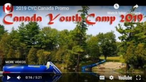 Canada Youth Camp 2019 promo